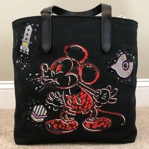 Coach Limited Edition Mickey Mouse Love Tote RARE